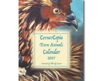 2017 Monthly Calendar Farm Animals