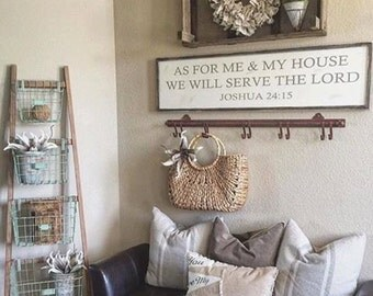 As for me and my house sign