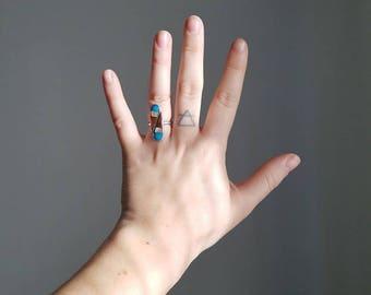 teardrop ring // sterling // size 5.5 //  native american