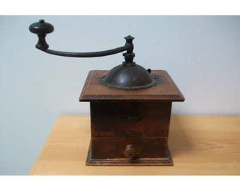 Vintage French coffee grinder. Peugeot Brothers. Display or refurbishment.