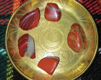 Red Brecciated Jasper 5 stone set