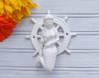 Mermaid Door Knocker. Mermaid Decor. Nautical Decor. Beach Decor. Coastal  Decor.