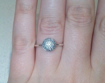 925 Sterling Silver Ring - Clean CZ Ring - Dazzling Droplet Ring 58