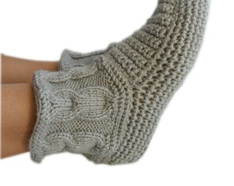 Knitting boots, crochet slippers, crochet shoes for home, slippers, cozy boots, for girls, knitted accessories