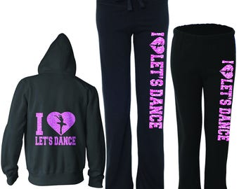 Let's Dance custom fleece set