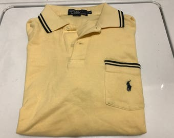 Men Ralph Lauren Polo shirt  Yellow and blue size small
