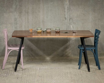AVIATOR | Dining Table | American Black Walnut with Copper Accents
