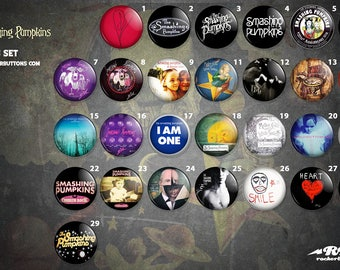 collection plates Smashing Pumpkins / / Smashing Pumpkins buttons collection