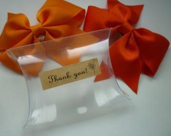20 Clear PVC Pillow Wedding /Christening /Return Gift Boxes (9cm length x 7.1 cm):