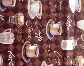 Coffe Themed Fabric
