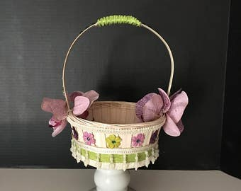 Orchid Flower Girl Basket
