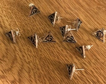 Hallows Stud Earrings Harry Potter