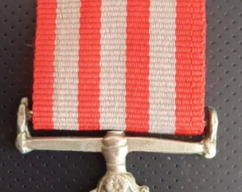 Pakistan Army Long Service Medal. Awarded For 20 Years Long Service. With Original Ribbon.