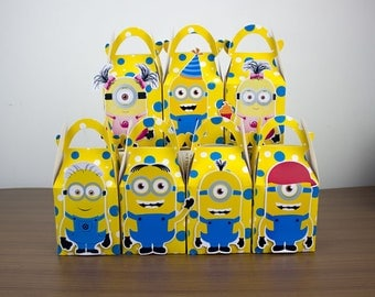 Minions Favor Box Candy Box Gift Box Cupcake Box Boy Kids Birthday Party Supplies Decoration Event Party Supplies