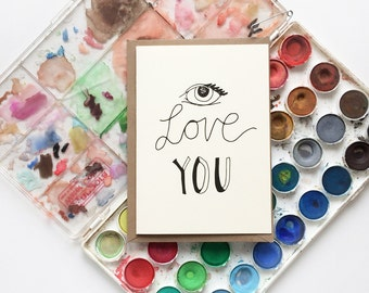 Eye Love you Card