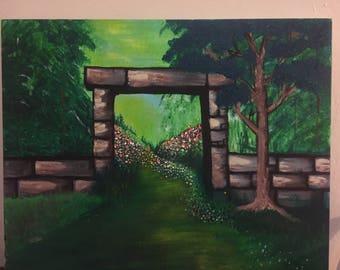 "Original Acrylic Painting "" A New Path"""