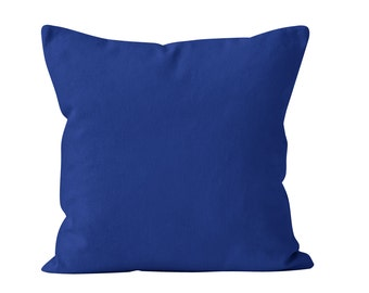 Classic Blue Pillow Cover, Solid Medium Blue Pillow Cover, Royal Blue Toss Pillow Cover, Blue Cushion Cover, Pillow Cover Blue 18x18
