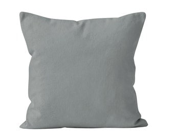 Water Gray Pillow Cover, Solid Gray Pillow Cover, Neutral Grey Pillow Cover, Minimalist Pillow Cover, Scandinavian Nordic Pillow Cover _M