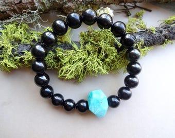 Shungite Amazonite powerful stretch Bracelet