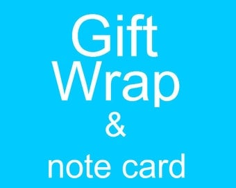 Gift Wrap and a Note Card