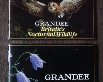 Two Vintage Cigarette Card Albums. Grandee Cigars..Wild Flowers & Nocturnal Wildlife .1980's.