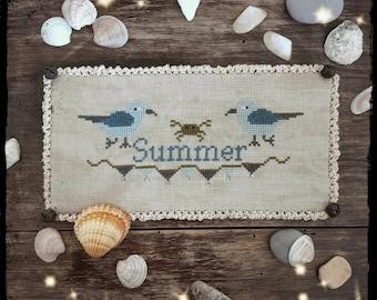 Summer Seagulls - PDF Cross Stitch Pattern