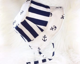 Anchor and Stripe Bucket Hat