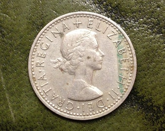 English Sixpence Dated 1967