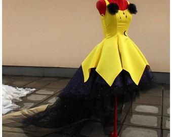 Custom made Sailor Moon Human Luna dress