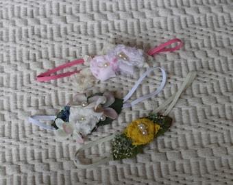 new born floral headband,photo prop, floral  new born, New Born headbands