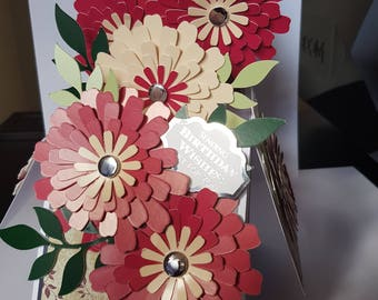 Personalised Handcrafted 3D Pop-Up Flowers Birthday Card