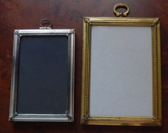 Pair of Vintage Silver and Gold Photo Frames!