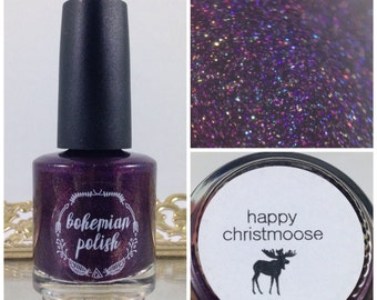 Happy Christmoose - 15mL Hand-Mixed Nail Lacquer