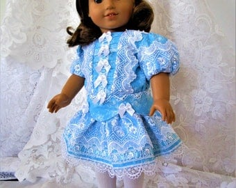 Little Girl's Victorian Party Dress for American Girl Doll