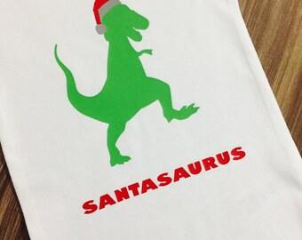 Santasaurus Onesie, Christmas Dinosaur Onesie