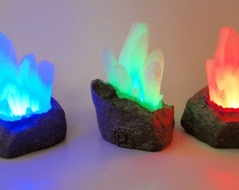 Kryptonite Night Light, Superman Light, Color Change Light, Crystal Light, Fantasy Night Light