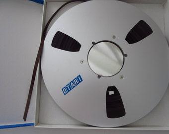 Vintage Otari Audio Recording Tape Reel to Reel Tape - 10 1/2 inch Metal Reel. 1/4 inch Tape