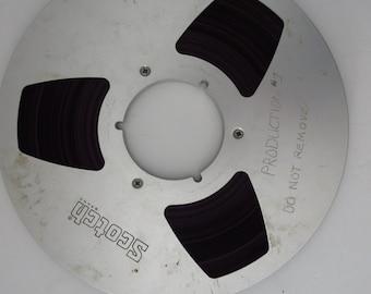 Vintage Scotch Audio Recording Tape Reel to Reel Tape - 10 1/2 inch Metal Reel. 1/4 inch Tape