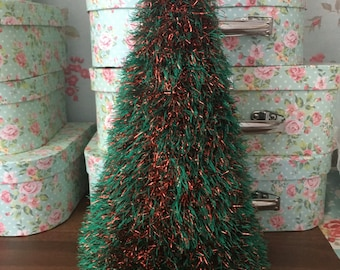 Tinsel cone Christmas tree