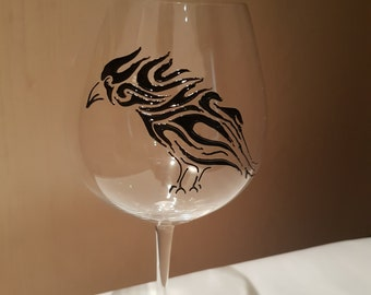 Raven Wine Glass