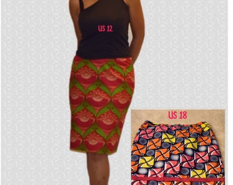 African Print Pencil Skirt, Red Pencil Skirts,Ankara Pencil Skirt, Pencil skirts, Kitenge Pencil Skirt, Party skirt,Skirts,Women's clothes