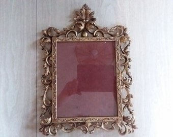 Vintage Heavy Ornate Gold Color Photograph/Picture Frame