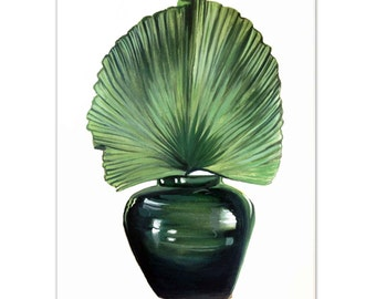 Frond in Vase Watercolour painting - Limited edition prints (100 only)
