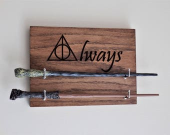 Harry potter alohomora spell key rack key by wooddesigns4you for Elder wand display