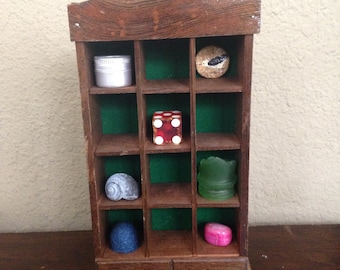 Vintage Wooden Miniature Display Cabinet