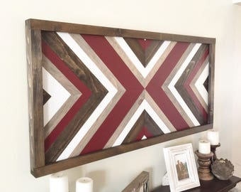 Reclaimed wood wall art, rustic wall art, barn wood wall art, farmhouse decor, wall decor, large wall art