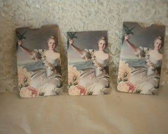 Victorian Woman Envelope With Matching Note Card (4)