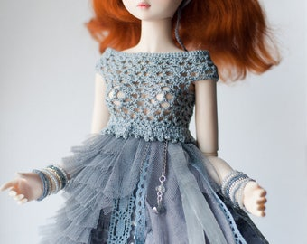 Mori dress for 1/4 BJD MSD/Tonner/MiniFee Moe dolls.