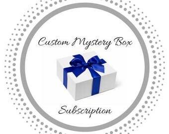 Custom mystery box subscription