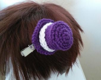 Tiny Top Hat, Tiny Top Hat Hairslide, Colourful Tiny Hat, Tiny Hat Hair Pin